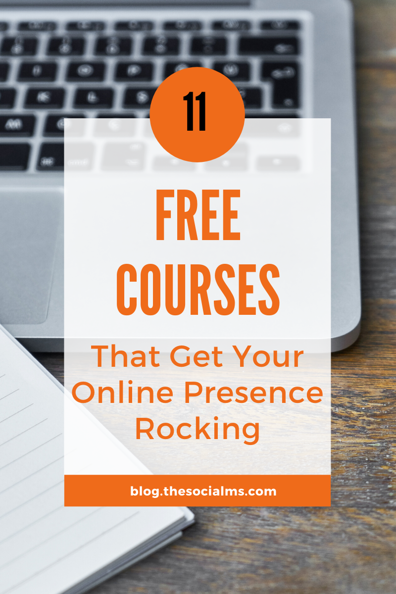 we put together a list of great courses for all things online marketing, blogging and creating websites. All the courses in this list are FREE. #marketingcourses #onlinebusiness #bloggingtips #onlinemarketing #smallbusinessmarketing