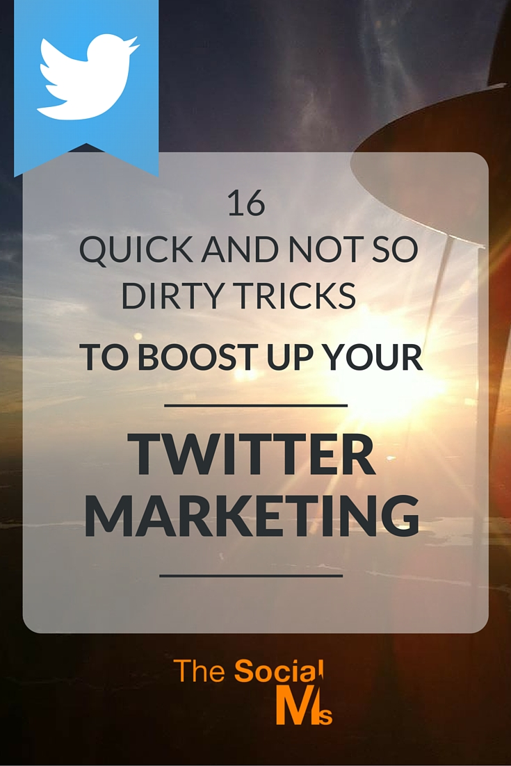 Twitter is a very effective social networks for marketing purposes. To get more out of your Twitter marketing, there are endless ways of optimizing.
