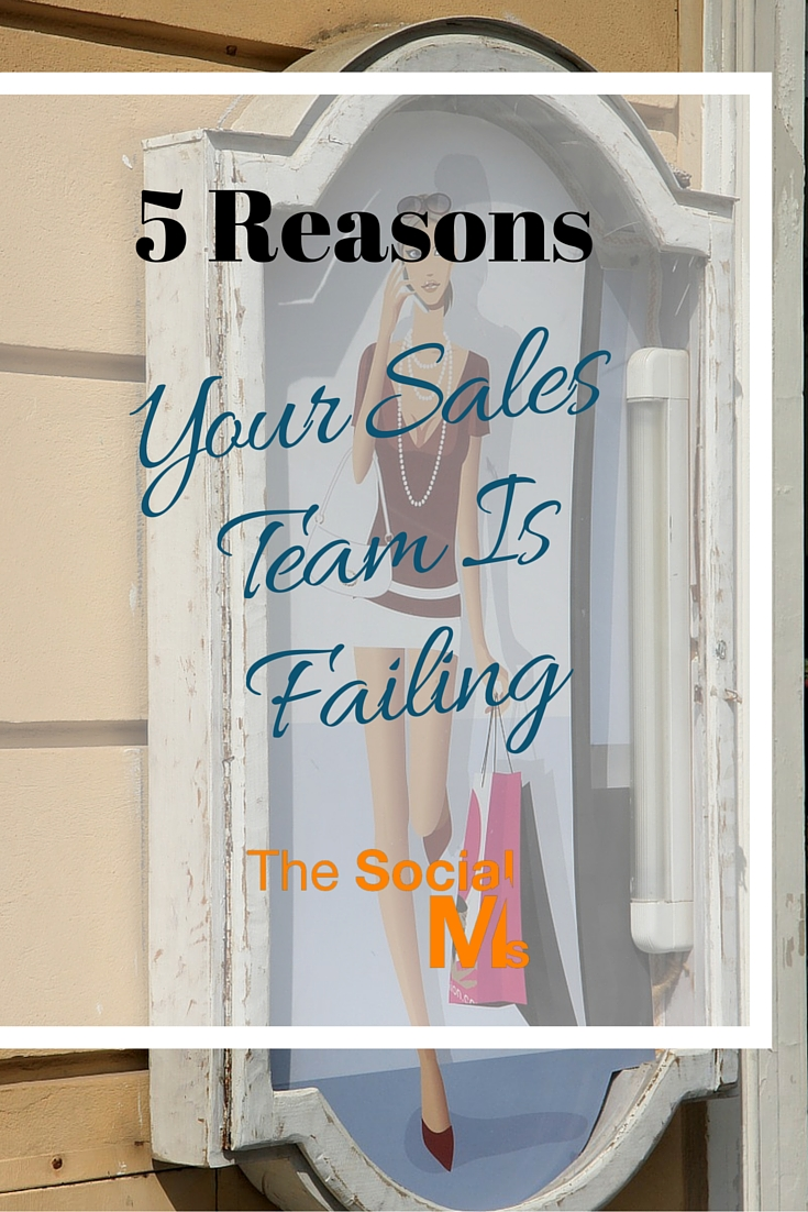 I myself am not a sales person. I feel like an intruder. But there are good sales people and I wonder why your sales team is doing such a bad job...