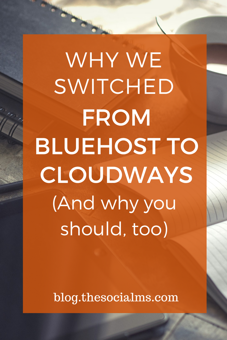This post is why we switched from Bluehost to Cloudways - why Cloudways is the best blog hosting platform for bloggers and how easy the switch was! web hosting, blogging tips, blog hosting, hosting provider, start a blog, blogging for beginners