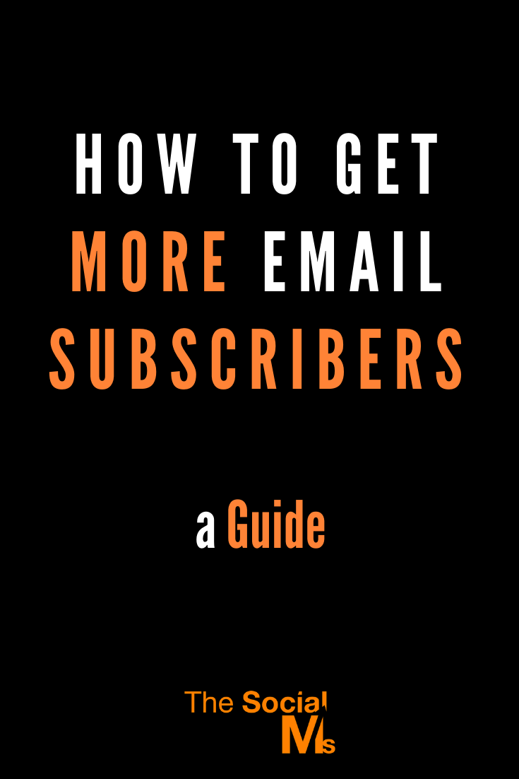 """""""Collecting new email subscribers"""" is an important part of online marketing - this post is a guide to teach you how to grow your list effectively and give you ideas to improve your conversion rate. #emailsubscriber #emailmarketing #newsletter #listbuilding #newslettermarketing #leadgeneration"""
