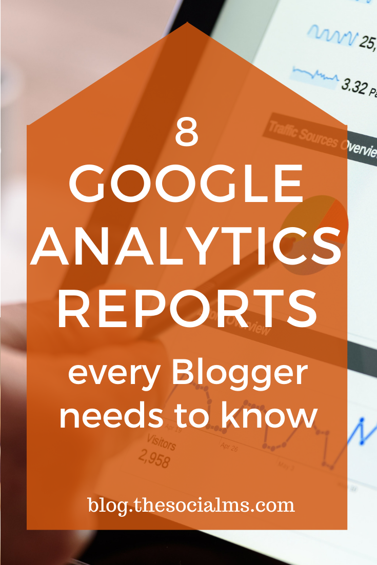 Here are eight Google Analytics reports that can show you critical information to enhance social media marketing efforts. #googleanalytics #blogmetrics #bloganalytics #monitoring #marketingmetrics #bloganalytics #bloggingtips