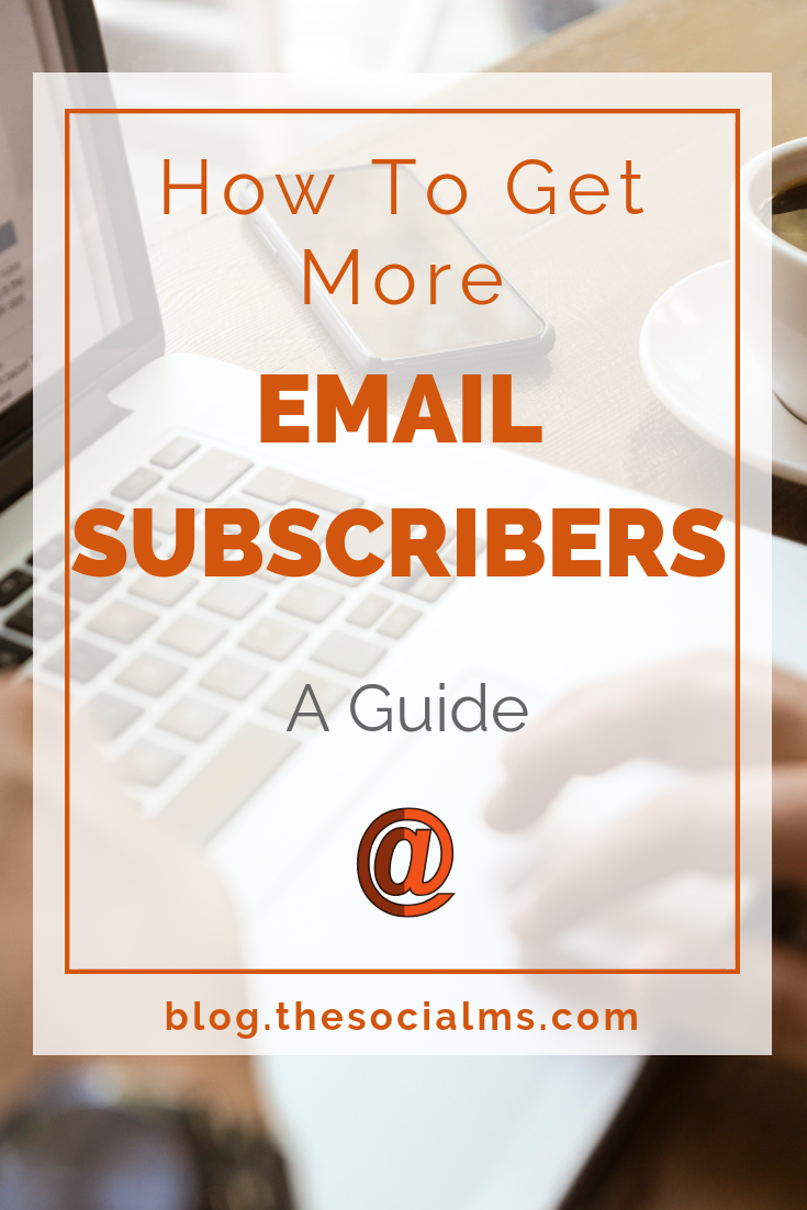 """Collecting new email subscribers"" is an important part of online marketing - this is a guide that will teach you advanced techniques to grow your email list.  get email marketing tips, grow your email subscribers and grow your business using email marketing. #emailmarketing #emaillist #listbuilding #salesfunnel"
