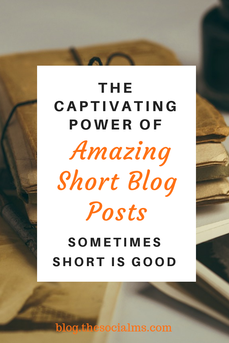 Short pieces of content have their place in blogging and content production in general. The cornerstone of blogging success is value - not wordcount. #blogwriting #shortblogposts #blogpostcreation #bloggingtips #contentcreation