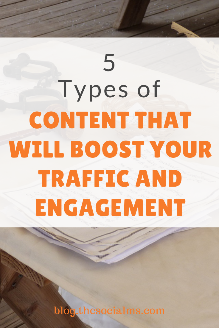 Some types of content speak better to an audience than others. If you are looking for more traffic and engagement you should know these types of content. #contenttypes #contentcreation #blogpostcreation #contentmarketing