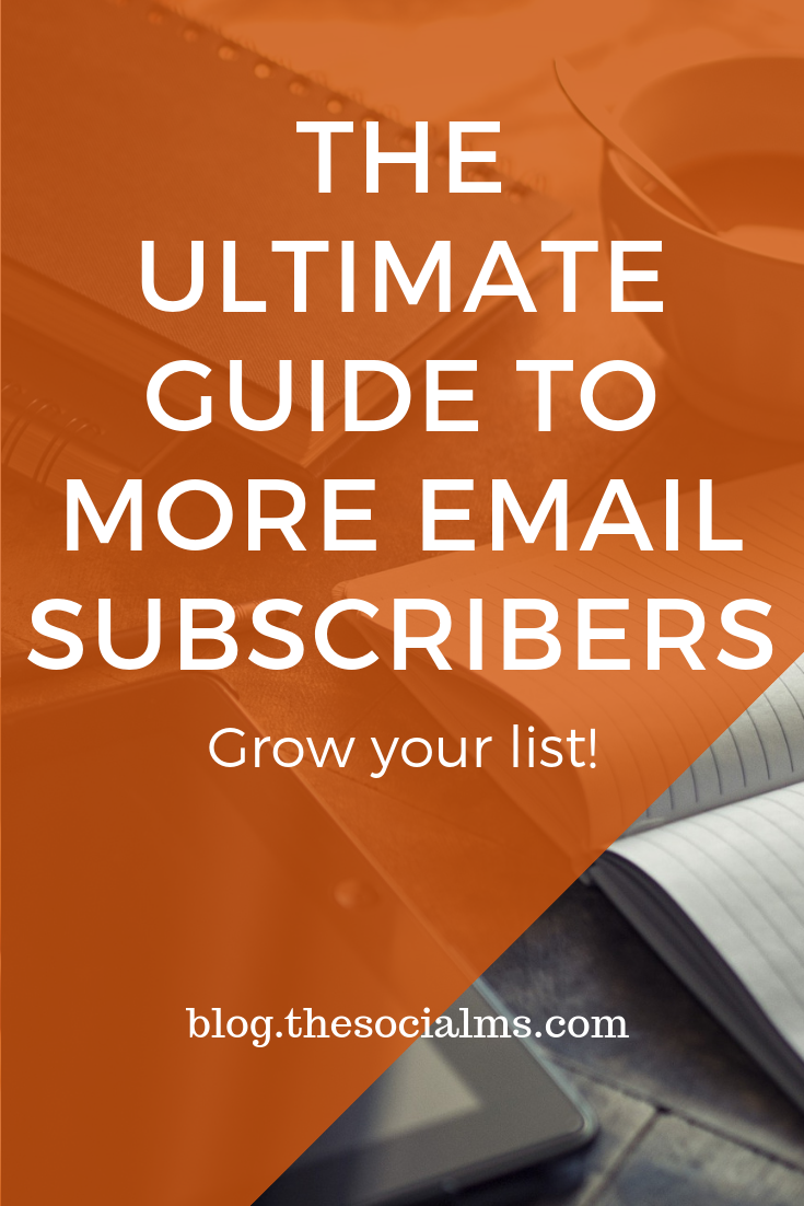 """""""Collecting new email subscribers"""" is an important part of online marketing - here is a guide to teach you how to grow your email list effectively with interested subscribers and give you ideas to improve your conversion rate. #emaillist #listbuilding #leadgeneration #emailmarketing #newslettermarketing #salesfunnel"""