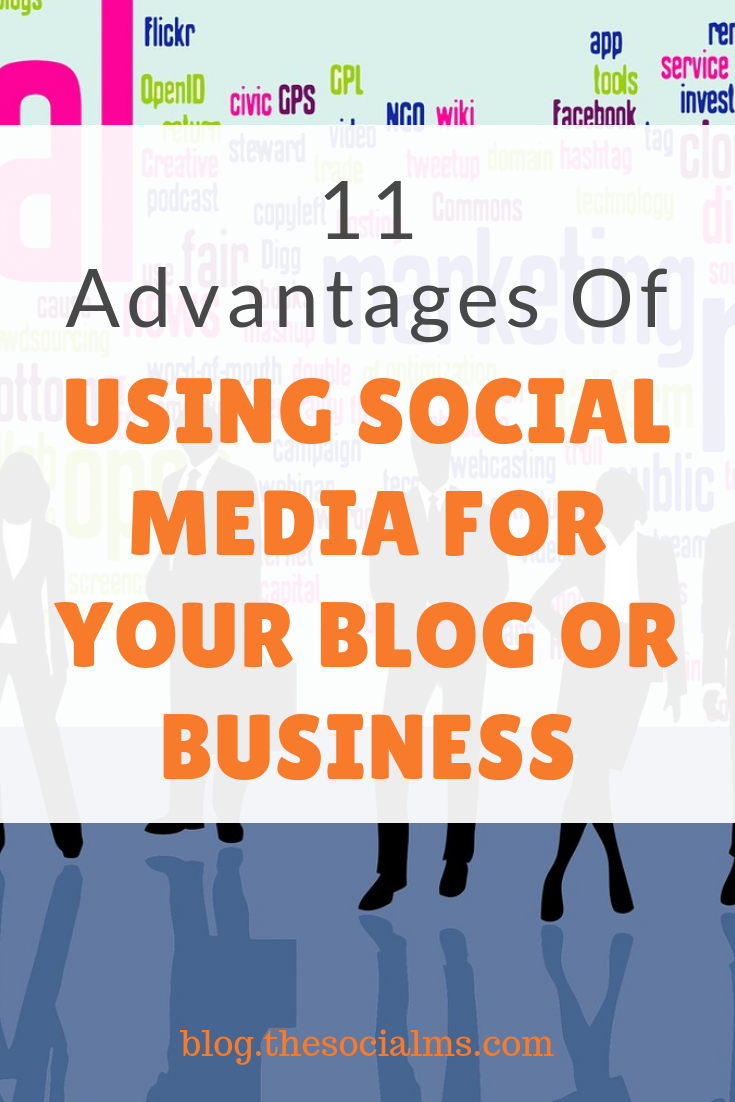 Here are 11 ideas for using social media for your blog or business - and most of the reasons are not marketing at all. Benefit from your social media efforts in many ways. Make your social media strategy variable. #socialmedia #socialmediamarketing #socialmediatips #socialmediastrategy