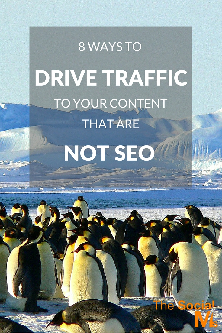 Google and SEO are by far not the only ways to drive traffic to your content. Here are 8 ideas to help you drive MORE TARGETED traffic to your content.