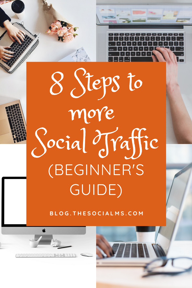 Your traffic from social media is probably not going sky high from one day to the other, but with these 8 basics you will at least see some success – and can work towards a goal. #socialtraffic #blogtraffic #trafficgeneration #socialmedia #socialmediatips #socialmediamarketing