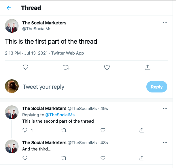how twitter threads appear in the twitter feed