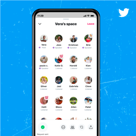 Twitter feature Twitter spaces