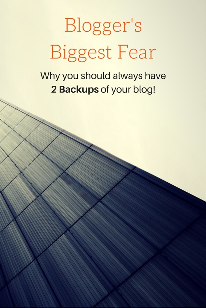 Why you should always use 2 independent systems to back up your blog!