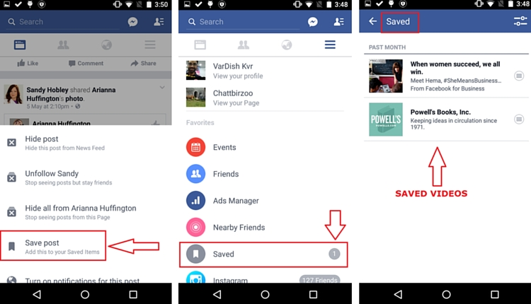 Facebook Save Feature
