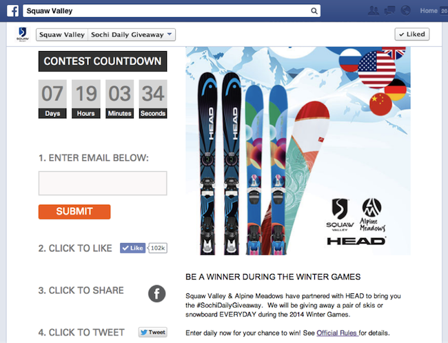 Squaw-Valley-ski-resort-drove-conversions-from-facebook-contest