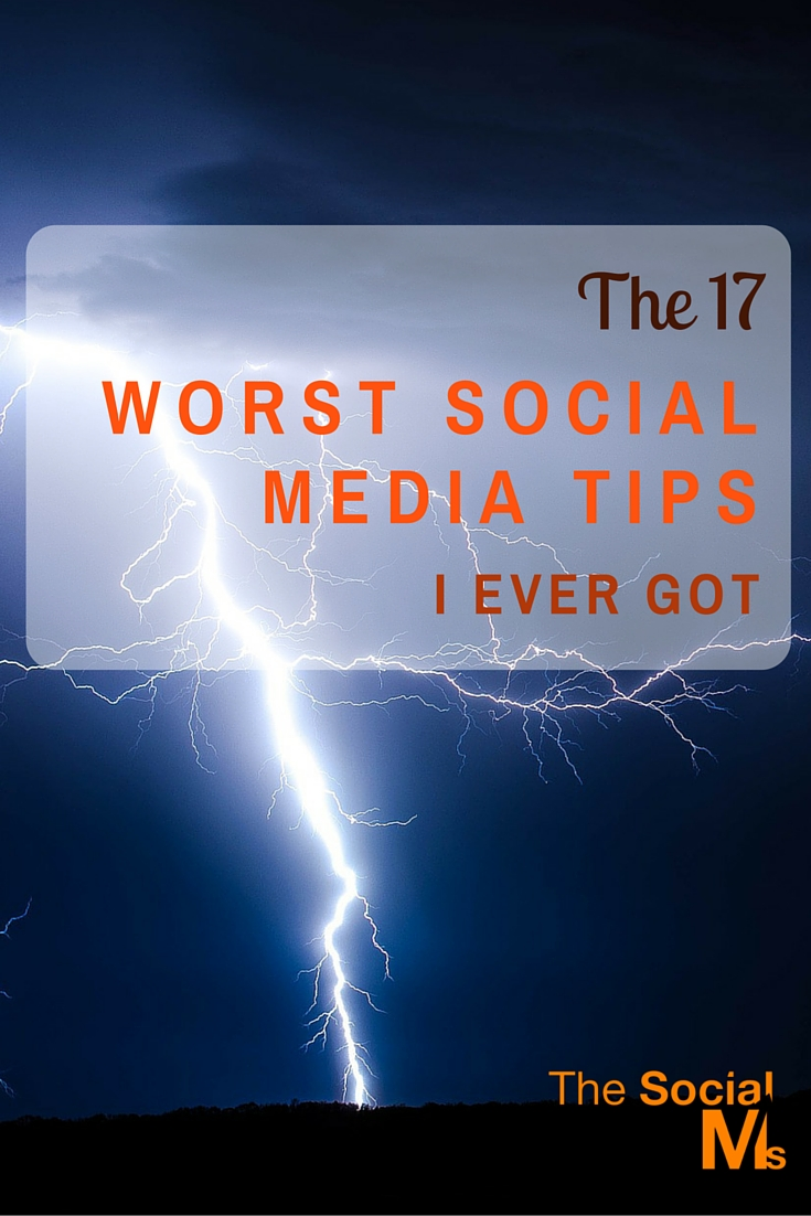There is some bad social media advice out there. Some so called experts keep these social media tips afloat, listening to them can easily break your success