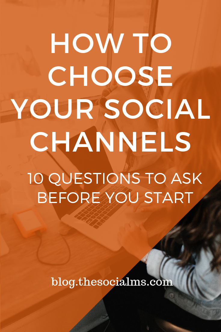 There are so many social networks out there that it is hard to decide which social media channels are the best for your blog and marketing efforts. Here are some questions you need to ask yourself and answer before you decide on the networks you are going to use for your social media marketing. ##socialmediamarketing #socialnetwork #socialmediatips #socialchannels #socialmediastrategy