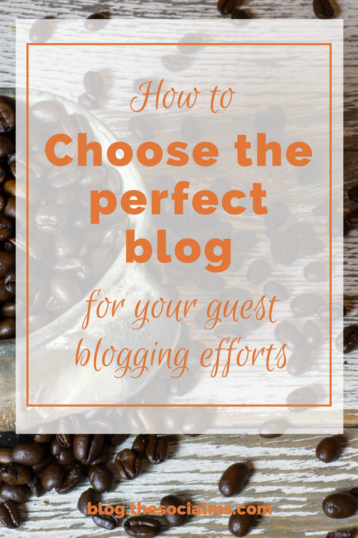 You need to research blogs from your niche that are open for guest posts. Here is how to choose the perfect blog for your guest post. guest blogging tips, how to make a guest post successful, how to get more out of guest blogging