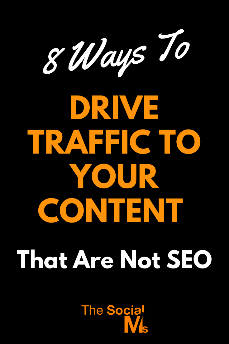 the goal is not necessarily only to drive MORE traffic but also to drive TARGETED traffic. Here are 8 ideas to help you drive MORE TARGETED traffic to your content #trafficgeneration #blogtraffic #blogging101 #bloggingtips #bloggingforbeginners