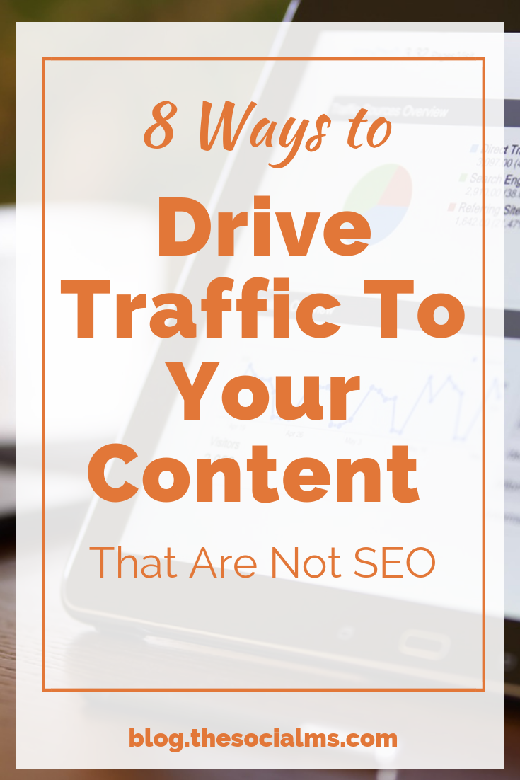 Do not focus on SEO without looking at other ways to drive blog traffic, too. Highly targeted traffic will convert much better. Here are 8 ideas to help you drive MORE TARGETED traffic to your blog content. #bloggingtips #blogtrafic #blogaudience #bloggingsuccess