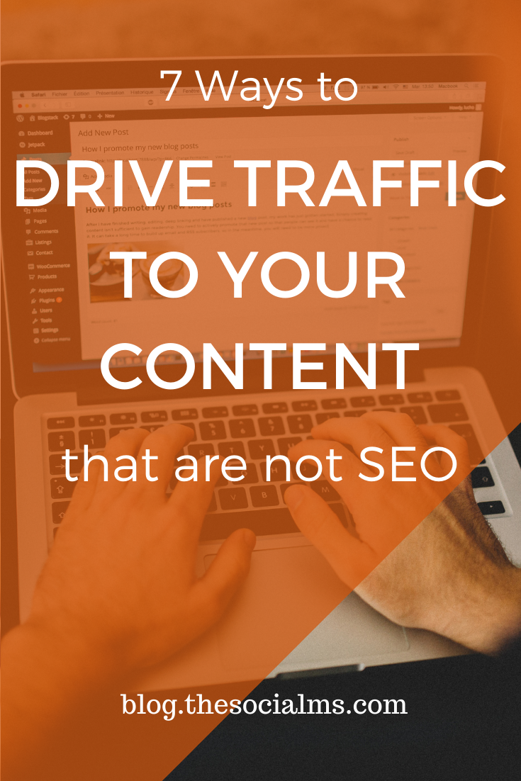 the goal is not necessarily only to drive MORE traffic but also to drive TARGETED traffic. Here are 8 ideas to help you drive MORE TARGETED traffic to your content and they are not SEO #blogtraffic #trafficgeneration #blogging101 #blogpromotion #contentpromotion #contentdistribution #blogging101