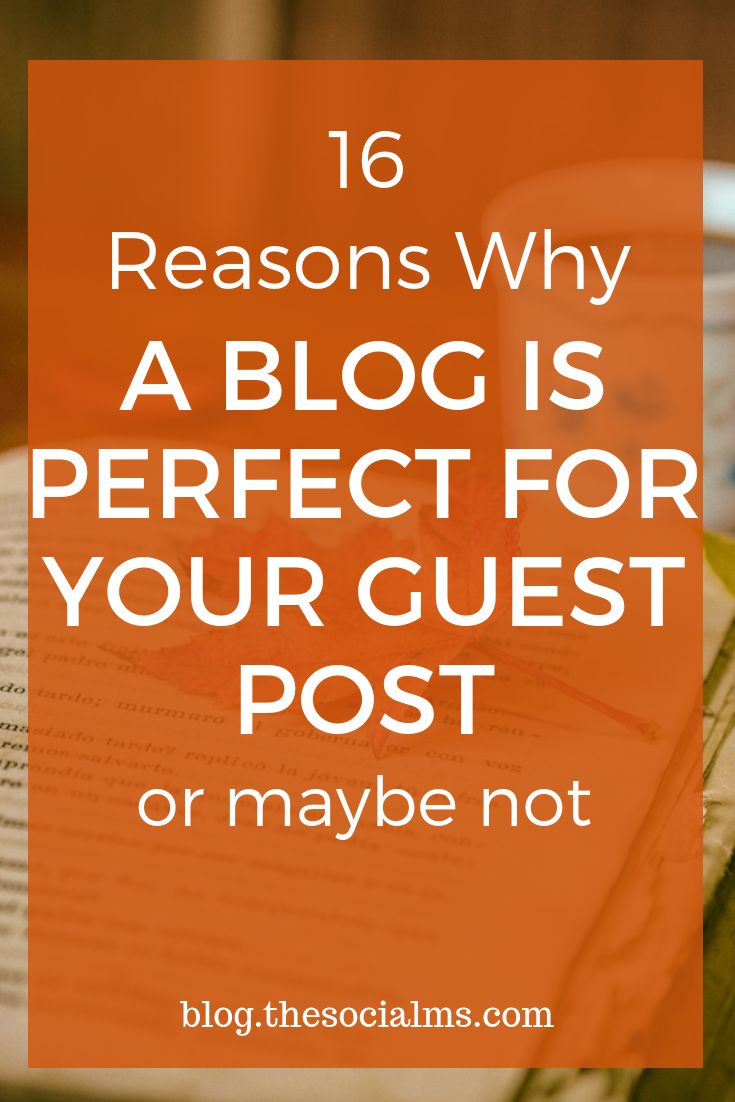Not every blog is perfect for your guest posting venture. When you create a great blog post you want to choose the perfect blog to publish it on. There are many factors you need to consider when you plan your guest posting. #guestblogging #guestposting #bloggingtips