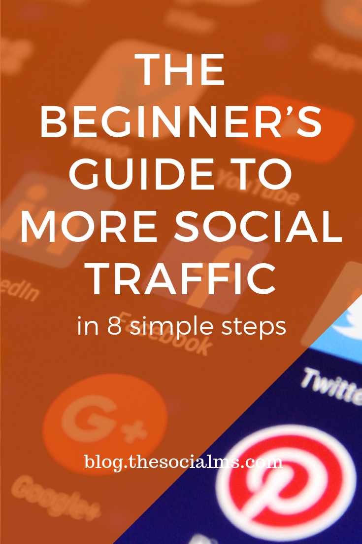 Many people struggle to get a considerable amount of traffic from social media. Here are the basic steps to start your social media marketing and get more social media traffic. Increase your blog traffic step by step. #socialmediamarketing #socialmediatips #socialmediaforbeginners