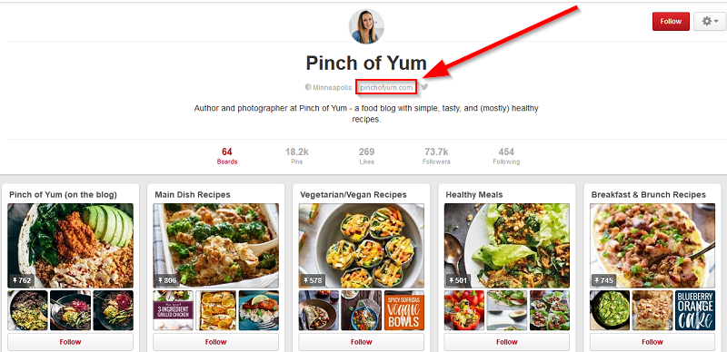 lindsay-of-pinch-of-yum-pinterest-profile