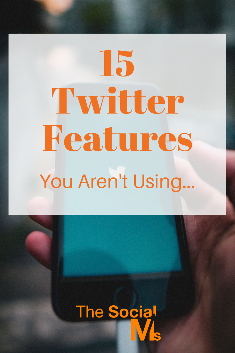 Twitter still comes with a couple of very useful Twitter features and functions that help you get more out of the 280 character conversations. If you want to boost your social media marketing success with Twitter, you need to know these Twitter features. #twitter #twittertips #socialmedia #socialmediatips #socialmediamarketing #socialmediastrategy