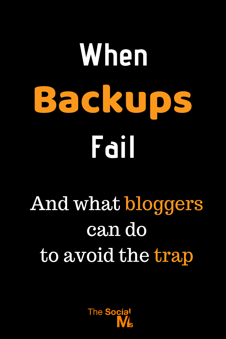 What if you made a simple mistake and all your content was gone? What if your backup does not work as planned? Here is what you can do as a blogger to avoid losing all your content. #bloggingtips #bloggingforbeginners #startablog #blogbackup #blogsetup