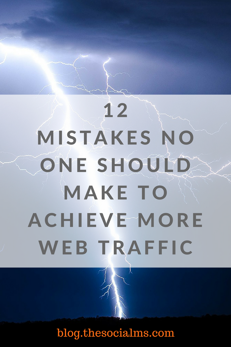 Many people simply want more web traffic and are willing to do whatever it takes to get it. Sadly, many common things to do simply shouldn't be so common!