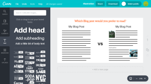 Canva offers more options - but it also takes more time to create an image in canva compared to pablo