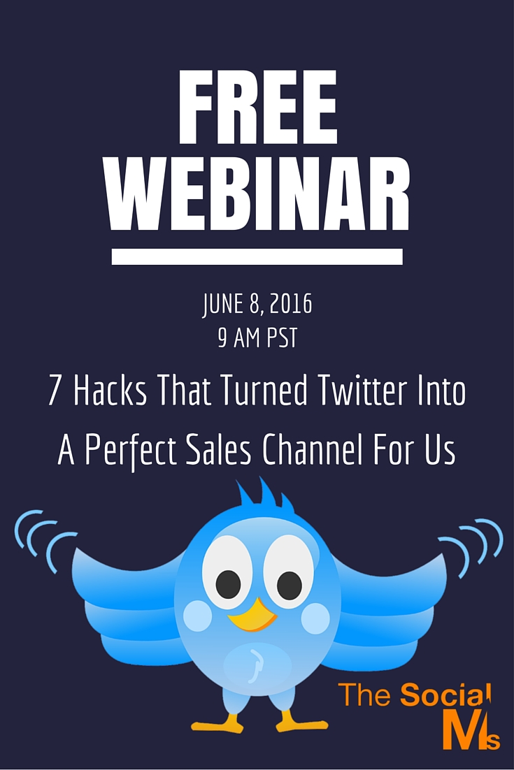 In the Free Twitter Webinar we share the hacks that helped us build two businesses mainly based on Twitter and turn Twitter into a sales channel.