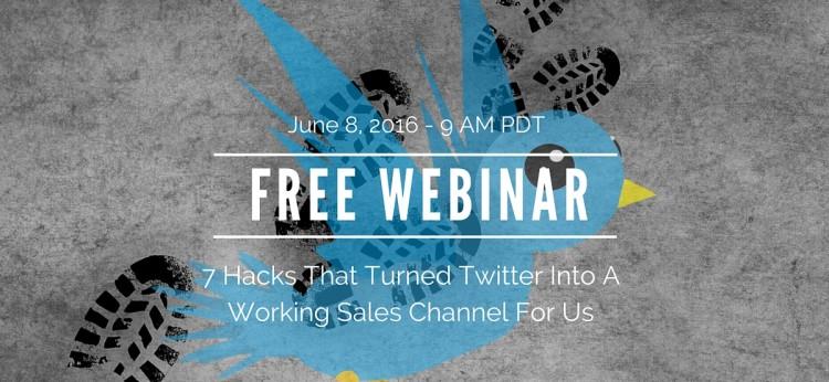 Free Twitter Webinar