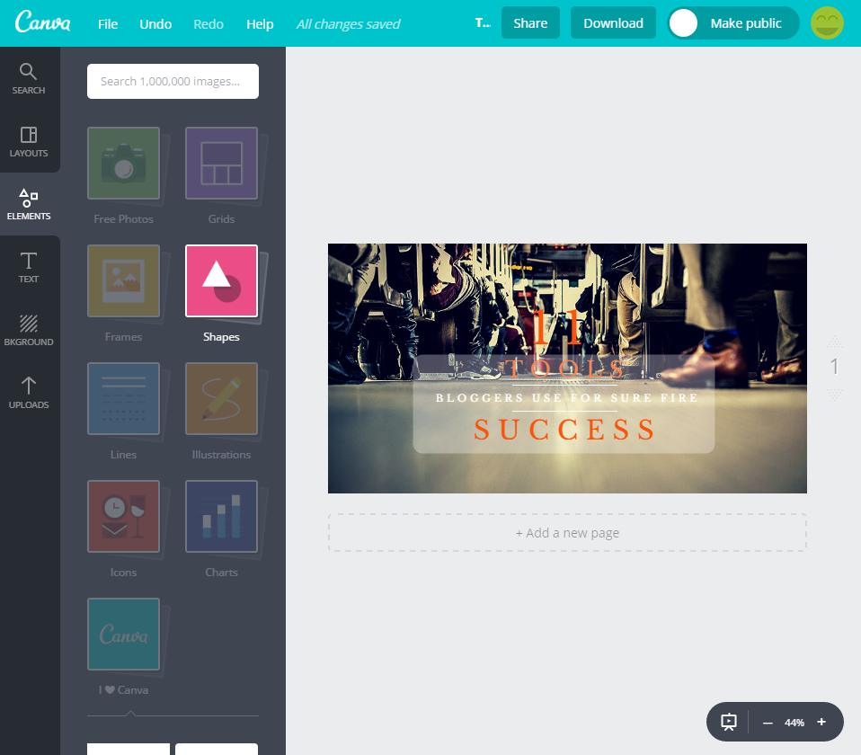 Canva Blogging Tools