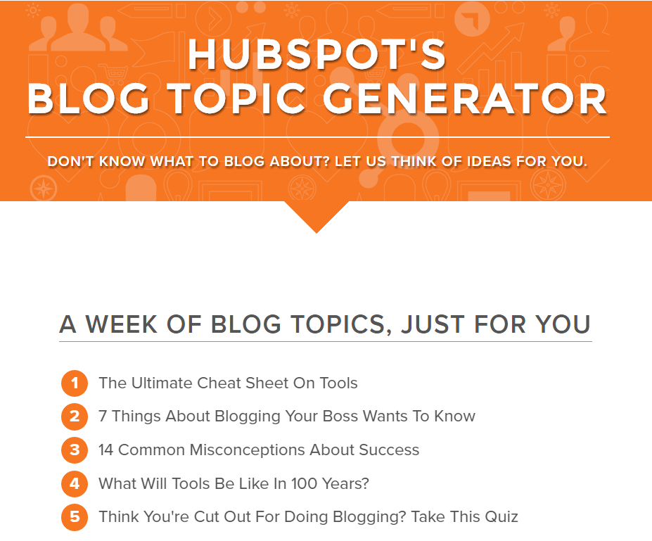 Hubspot - Tools Blogging Success