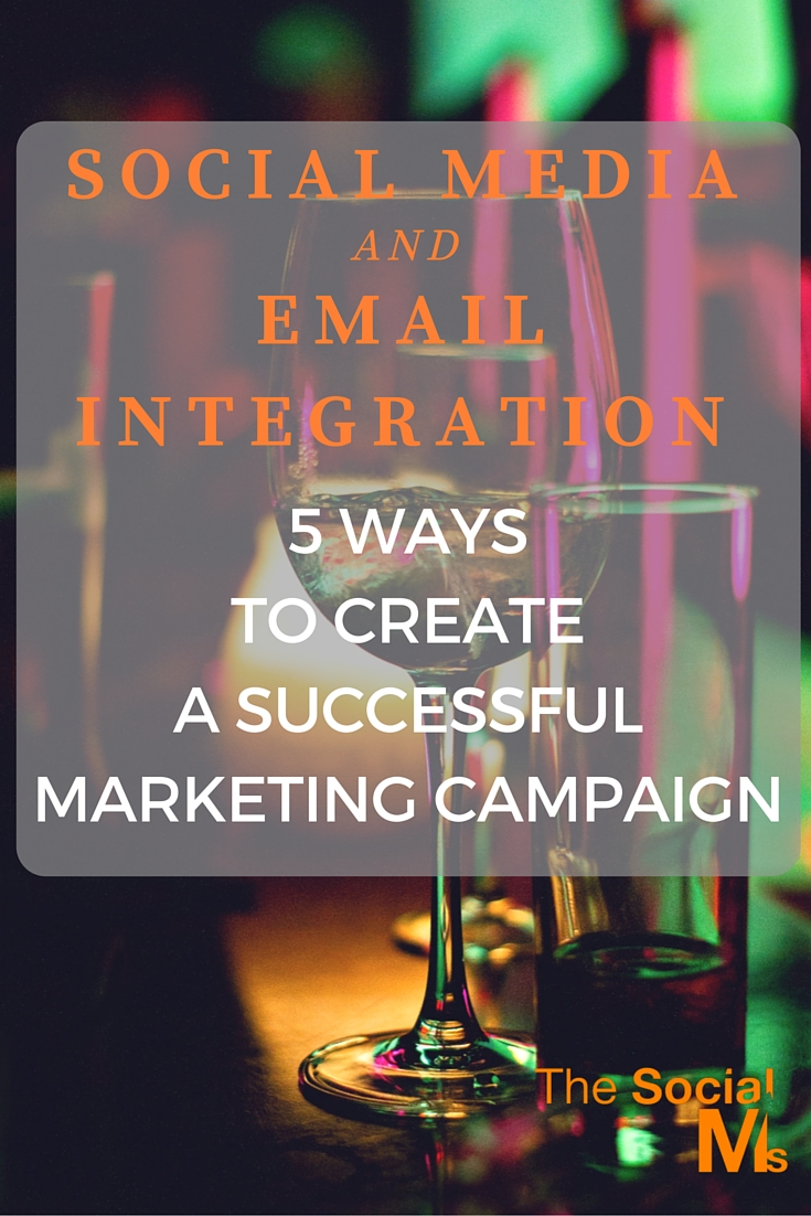 Social media and email can not only be part of the same campaign but also be integrated and complement each other. Use email integration for better results.