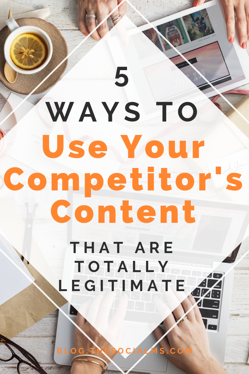 Start thinking in a not so competitive way about your competitors and profit from it. There are multiple ways how you can use your competitor's great content to boost your own marketing and blogging success. Here are 5 examples on how to improve your blogging and business results with the help of your competitors. #contentmarketing #contentcuration #bloggingtips #bloggingsuccess #socialmediatips