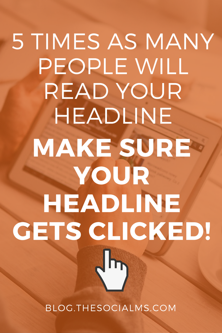 The perfect headline for a blog post gets people to click on the link, image or post. Most people only see the headline before they decide whether they want more. Blogging tips, content marketing tips