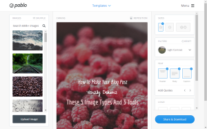 Pablo is a great tool to quickly create social media optimized images
