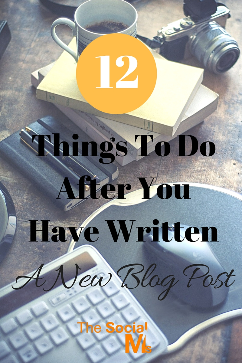 A major mistake of new bloggers is that they think their work is done with writing the post. Here are some blogging tasks you should not forget about.