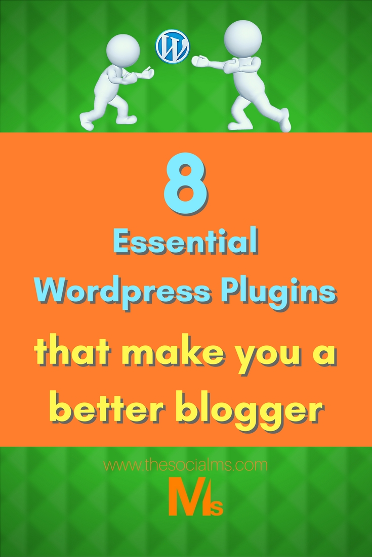 When you run a blog on WordPress, you rely on WordPress plugins. Some plugins are essential to your success - as they will improve your writing style, your SEO, your social media success, ... See these 8 essential wordpress plugins and become a better blogger! #wordpressplugins #wordpress #blogging