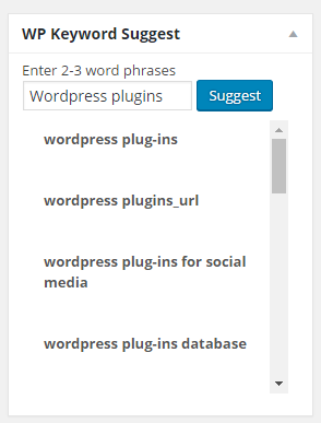 Essential WordPress Plugins - Keyword Suggest