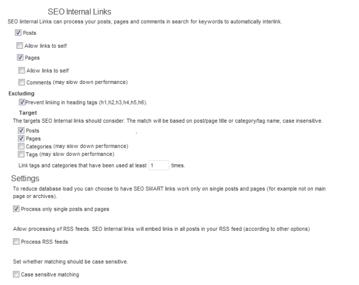 Essential WordPress Plugins - SEO internal Links