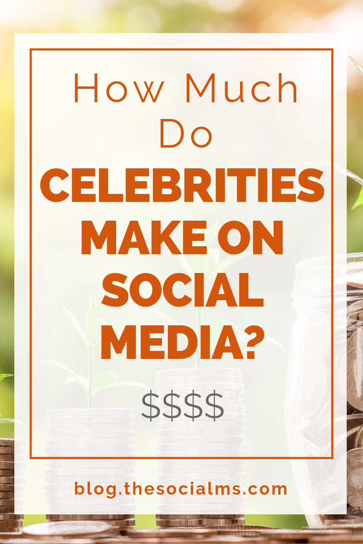 How much money do celebrities really make on social media? How much is a tweet worth or an Instagram Image? #onlinebusiness #makemoneyblogging #socialmedia #bloggingtips