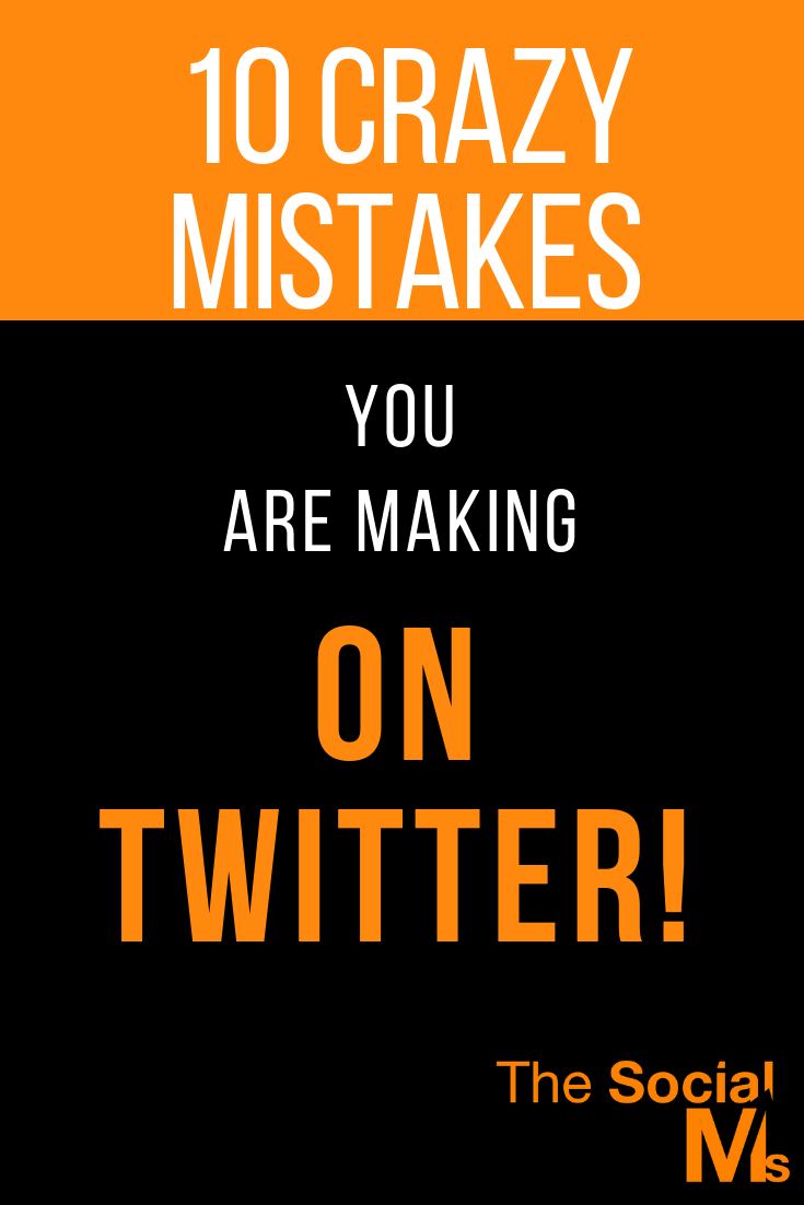even though Twitter is so easy and seemingly simple in functionality, you need some basic understanding of the Twitter processes and Twitter marketing best practices to get on the track to Twitter success. Here are 10 mistakes you are probably making that are killing your Twitter marketing. #twitter #twittertips #twittermarketing #twittermitakes #twitterstrategy