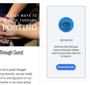 Email Marketing Popup