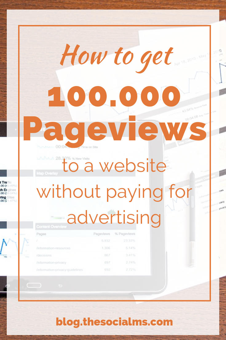 Here is the content marketing strategy that drives 100k pageviews to one website. Learn the exact steps yu can take to see your web traffic grow - without paying for advertising. learn how to get blog traffic for free. #blogtraffic #bloggingtips #contentmarketingstrategy #contentmarketing
