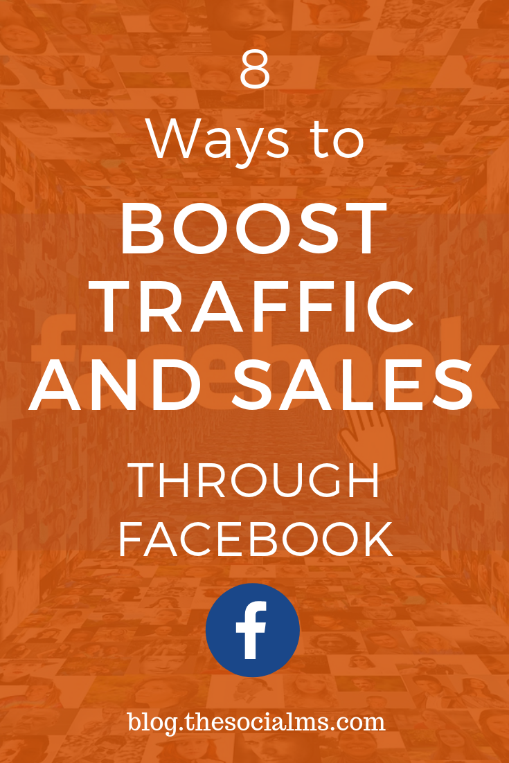 Not everything you will lead to instant success on Facebook. Here are 8 creative ways to boost your traffic and make more sales through facebook. Follow these Facebook tips for more success. #facebook #facebooktips #socialmediastrategy #facebookstrategy