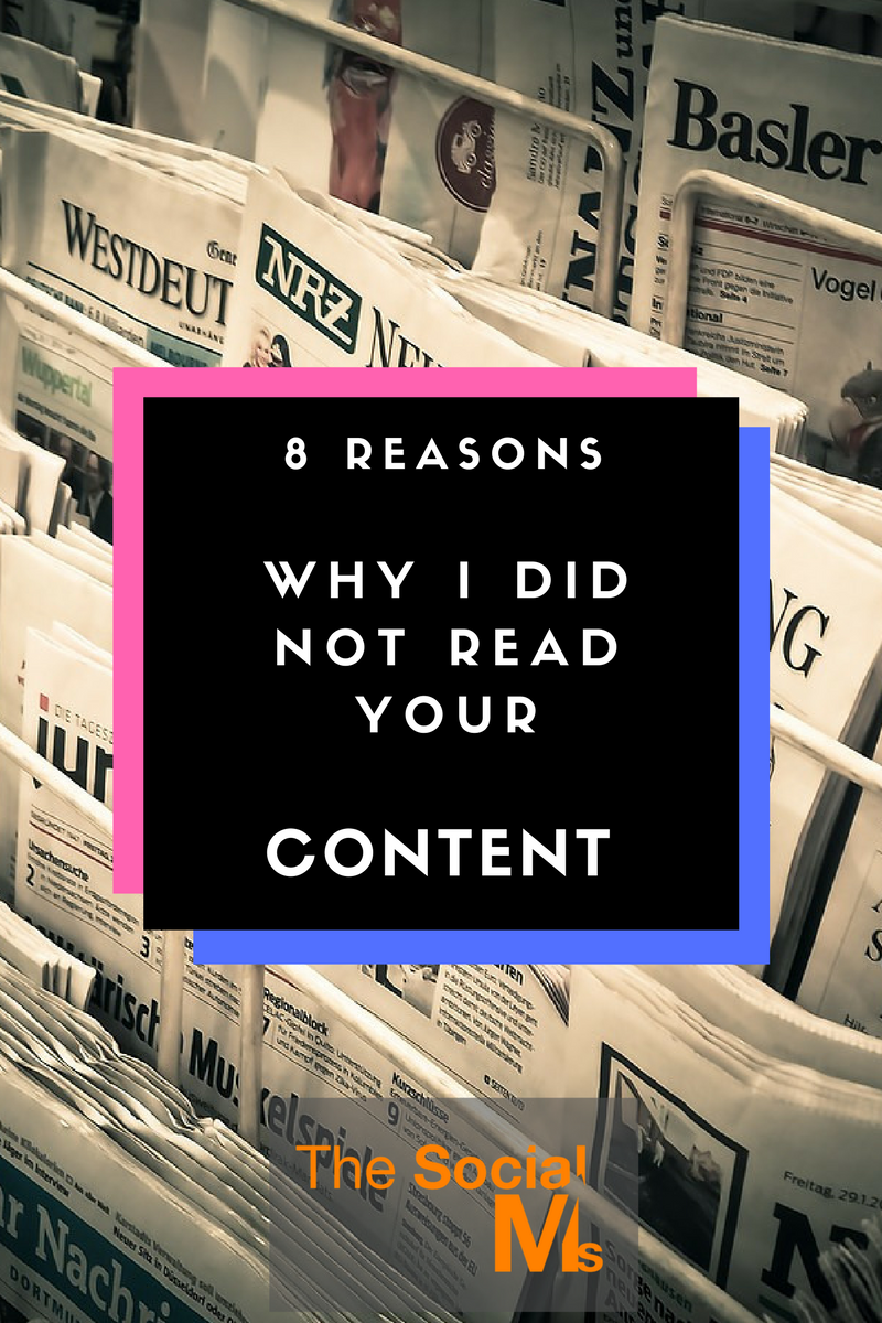 Reasons Why Makeup Is Important: 8 Reasons Why I Did Not Read Your Content
