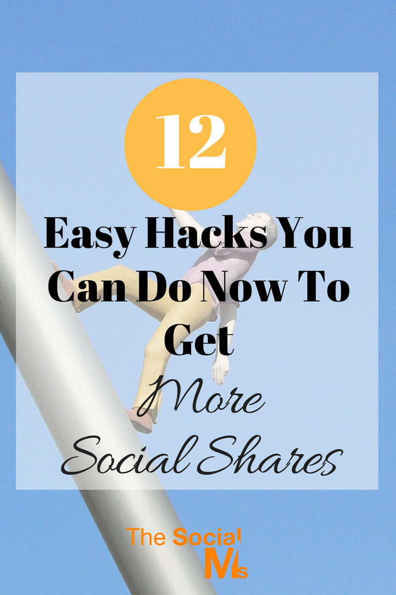 There are endless options to optimize your content, layout and social accounts to get more social shares. Here are 12 tips to get more shares.